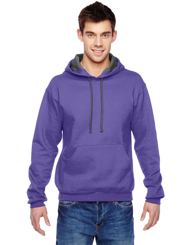 Fruit of the Loom Adult SofSpun® Hooded Sweatshirt PURPLE