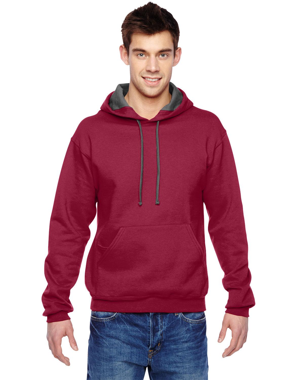 Fruit of the Loom Adult SofSpun® Hooded Sweatshirt CARDINAL