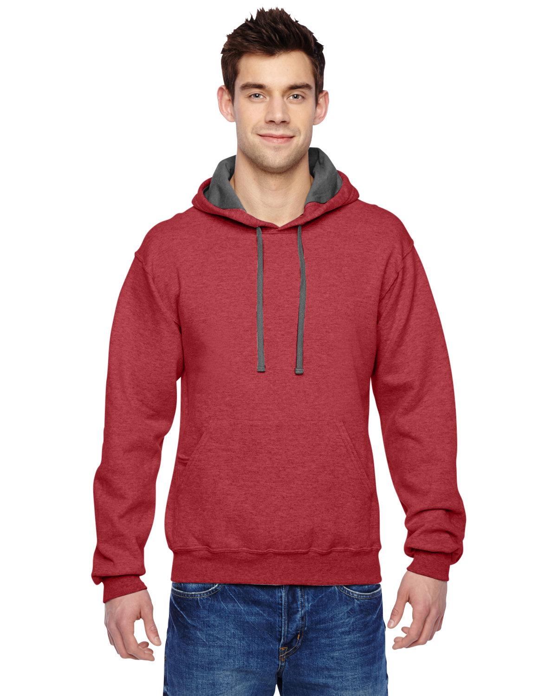 Fruit of the Loom Adult SofSpun® Hooded Sweatshirt BRICK HEATHER