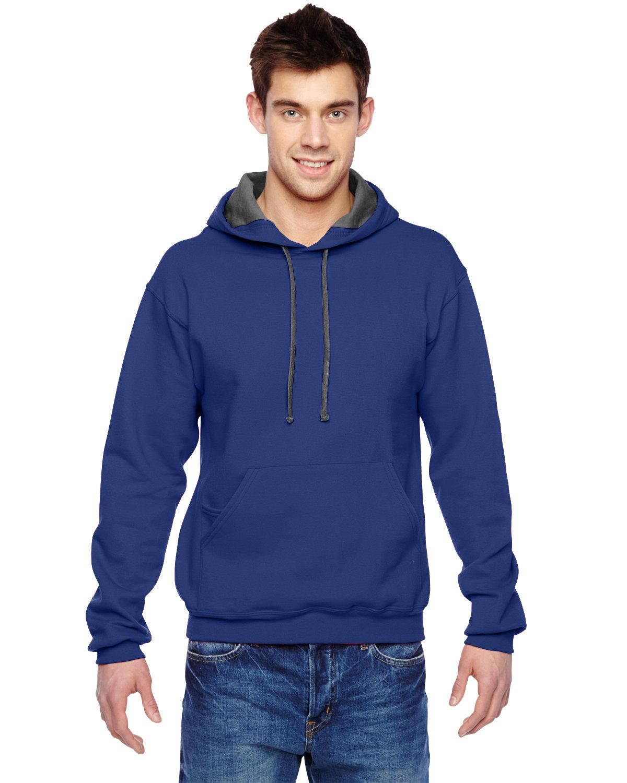Fruit of the Loom Adult SofSpun® Hooded Sweatshirt ADMIRAL BLUE