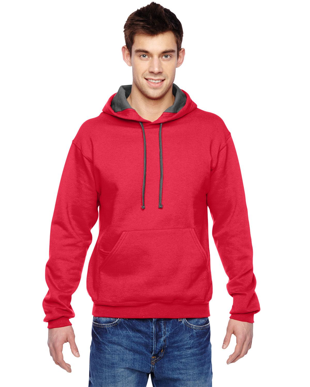 Fruit of the Loom Adult SofSpun® Hooded Sweatshirt FIERY RED