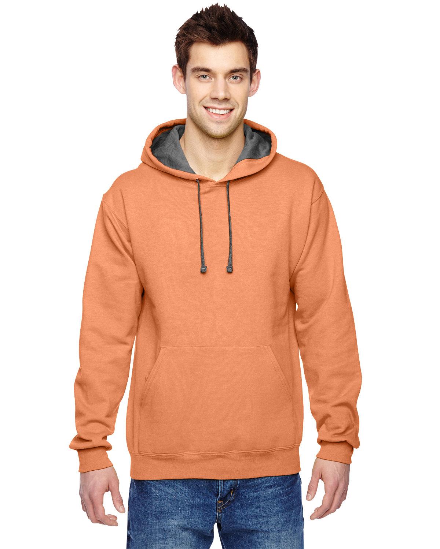 Fruit of the Loom Adult SofSpun® Hooded Sweatshirt ORANGE SHERBET
