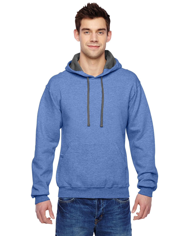Fruit of the Loom Adult SofSpun® Hooded Sweatshirt CAROLINA HEATHER