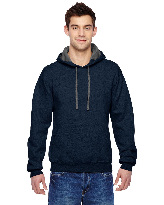 Fruit of the Loom Adult SofSpun® Hooded Sweatshirt INDIGO HEATHER