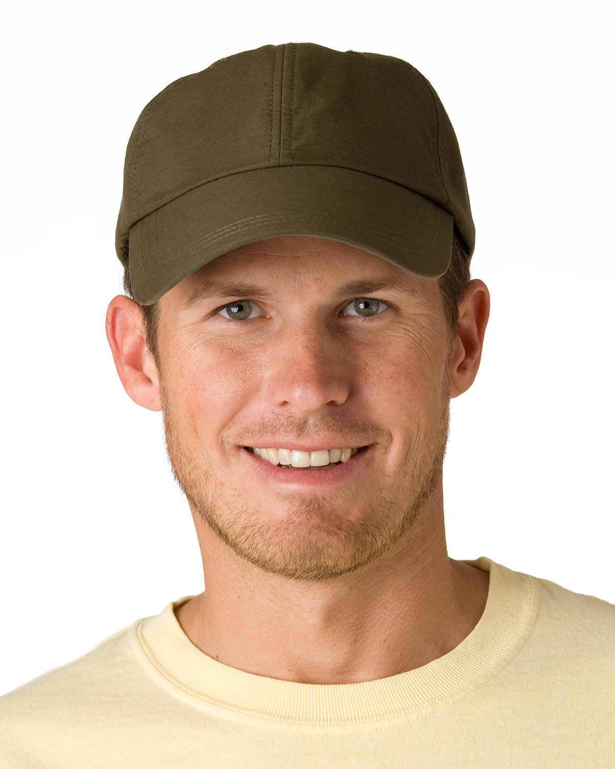 Adams 6-Panel UV Low-Profile Cap with Elongated Bill OLIVE