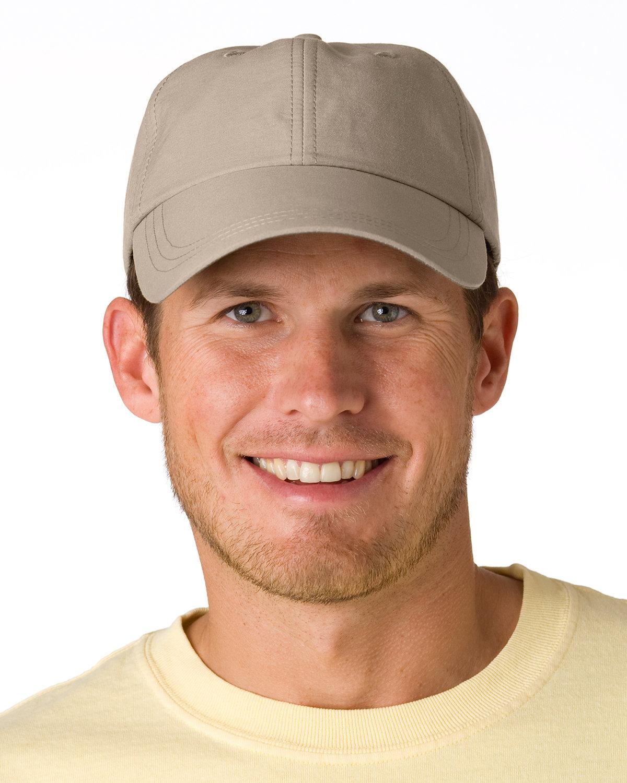 Adams 6-Panel UV Low-Profile Cap with Elongated Bill STONE