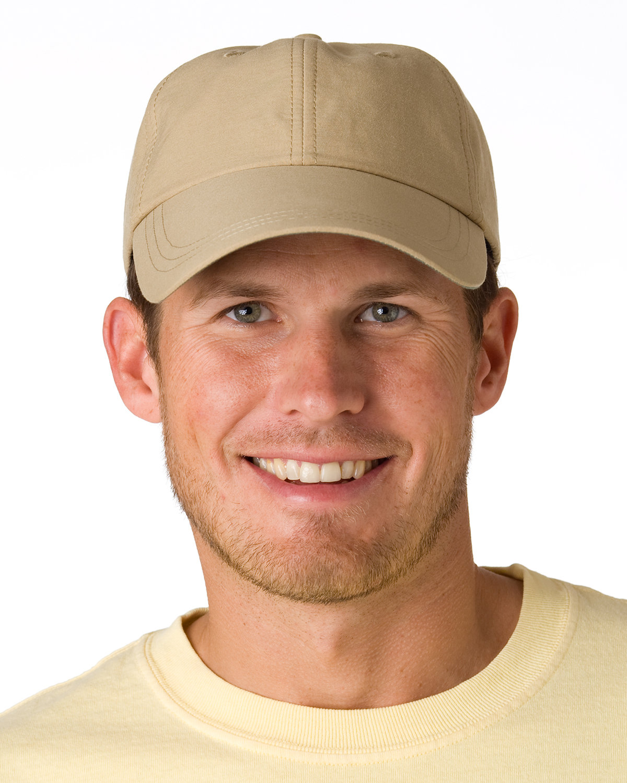 Adams 6-Panel UV Low-Profile Cap with Elongated Bill KHAKI