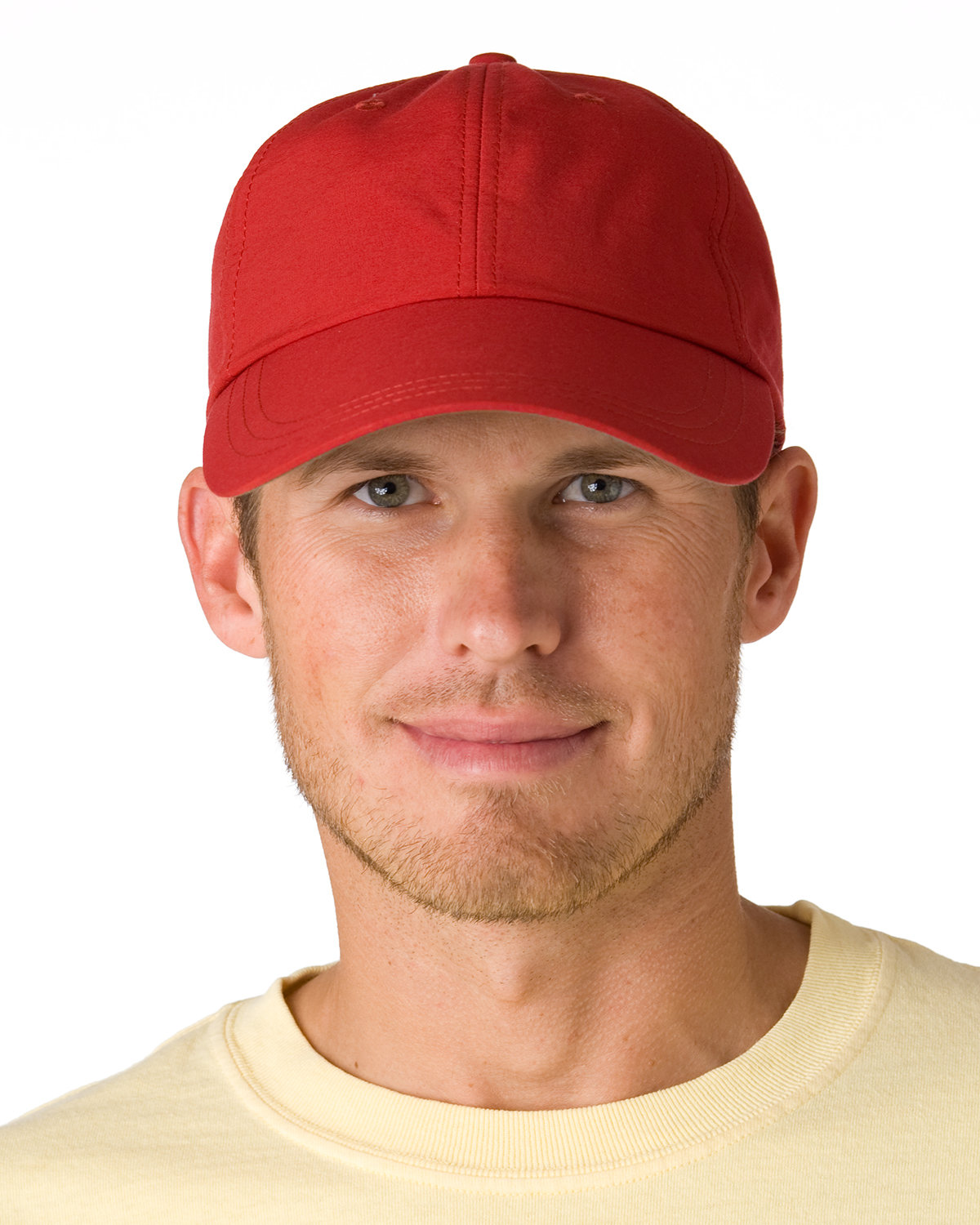 Adams 6-Panel UV Low-Profile Cap with Elongated Bill NAUTICAL RED