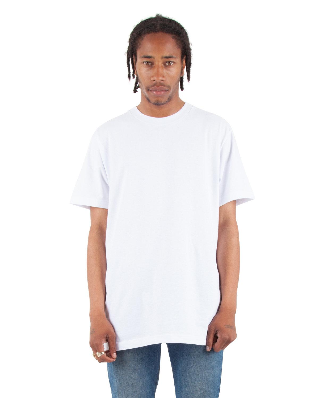 Shaka Wear Drop Ship Adult 6 oz., Active Short-Sleeve Crewneck T-Shirt WHITE