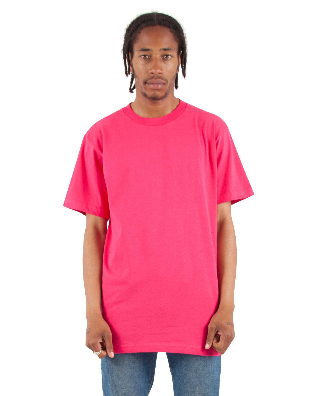 Shaka Wear Drop Ship Adult 6 oz., Active Short-Sleeve Crewneck T-Shirt HOT PINK