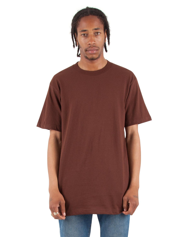 Shaka Wear Drop Ship Adult 6 oz., Active Short-Sleeve Crewneck T-Shirt BROWN