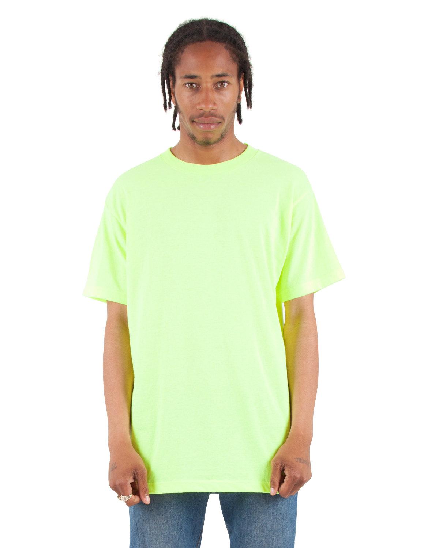 Shaka Wear Drop Ship Adult 6 oz., Active Short-Sleeve Crewneck T-Shirt SAFETY GREEN