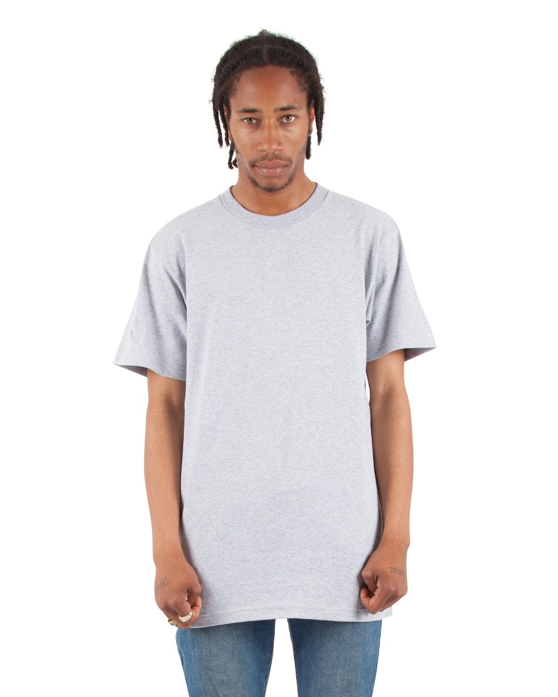 Shaka Wear Drop Ship Adult 6 oz., Active Short-Sleeve Crewneck T-Shirt HEATHER GREY