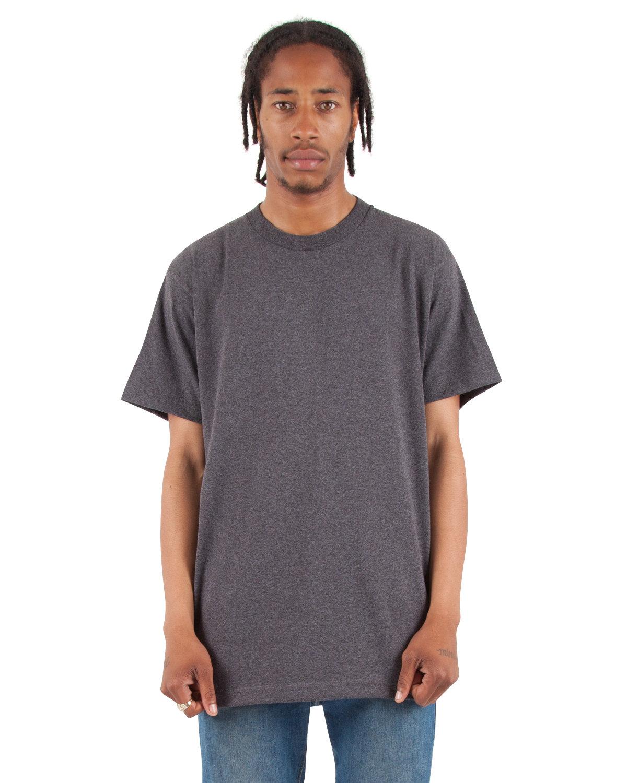Shaka Wear Drop Ship Adult 6 oz., Active Short-Sleeve Crewneck T-Shirt CHARCOAL GRY HTH