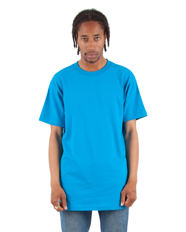 Shaka Wear Drop Ship Adult 6 oz., Active Short-Sleeve Crewneck T-Shirt TURQUOISE