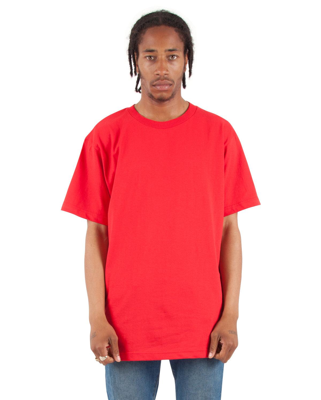 Shaka Wear Drop Ship Adult 6 oz., Active Short-Sleeve Crewneck T-Shirt RED