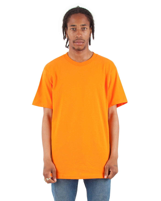 Shaka Wear Drop Ship Adult 6 oz., Active Short-Sleeve Crewneck T-Shirt ORANGE