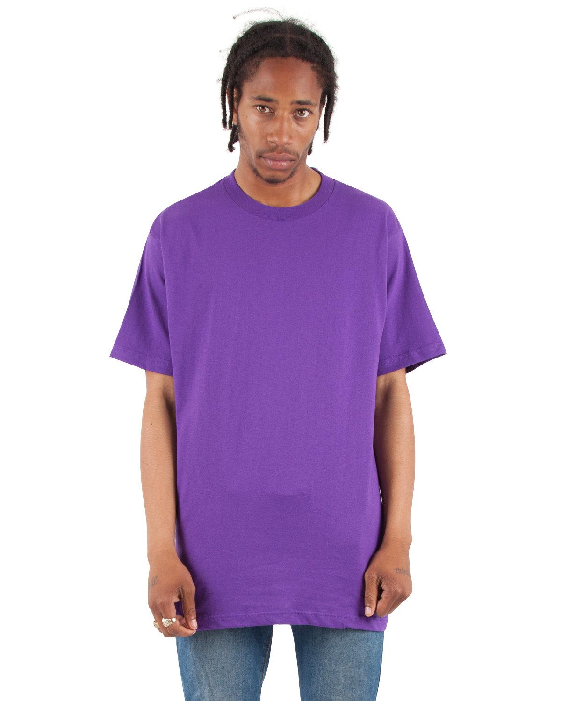 Shaka Wear Drop Ship Adult 6 oz., Active Short-Sleeve Crewneck T-Shirt PURPLE