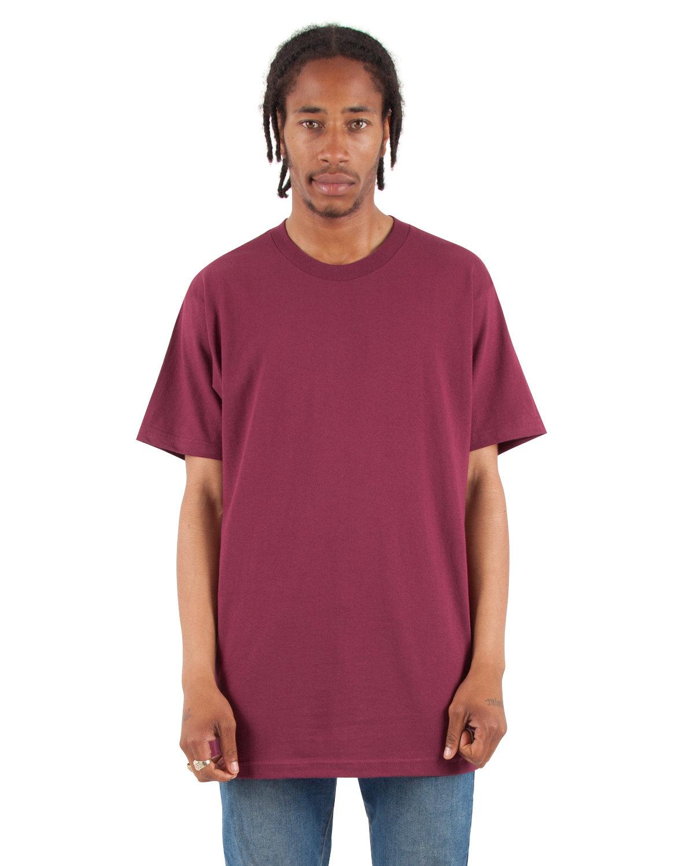 Shaka Wear Drop Ship Adult 6 oz., Active Short-Sleeve Crewneck T-Shirt BURGUNDY