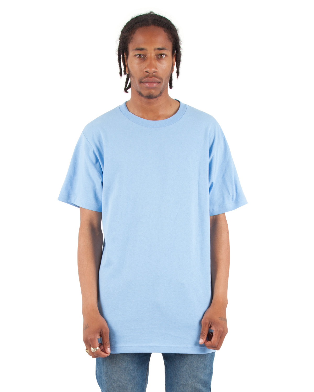 Shaka Wear Drop Ship Adult 6 oz., Active Short-Sleeve Crewneck T-Shirt SKY BLUE