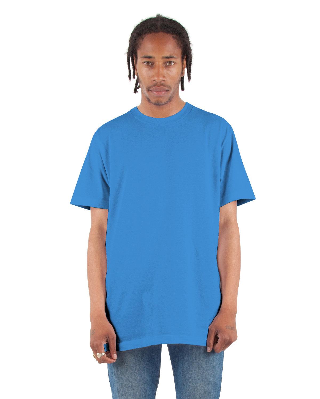 Shaka Wear Drop Ship Adult 6 oz., Active Short-Sleeve Crewneck T-Shirt CREAM BLUE