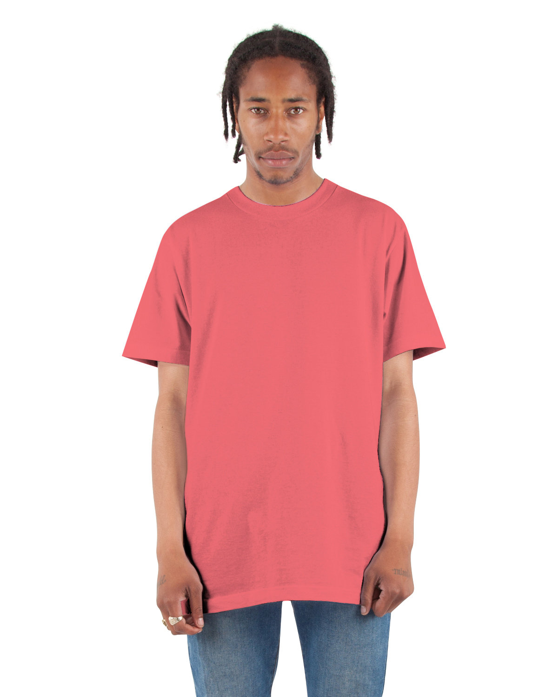 Shaka Wear Drop Ship Adult 6 oz., Active Short-Sleeve Crewneck T-Shirt CORAL
