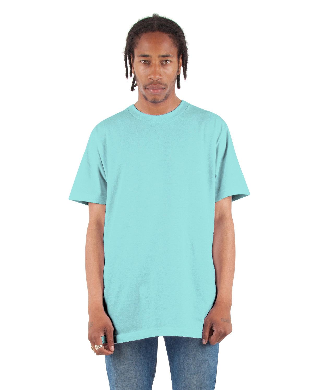 Shaka Wear Drop Ship Adult 6 oz., Active Short-Sleeve Crewneck T-Shirt TIFFANY BLUE