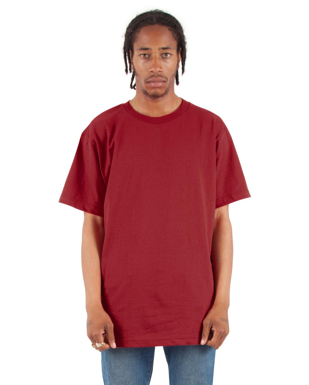 Shaka Wear Drop Ship Adult 6 oz., Active Short-Sleeve Crewneck T-Shirt CARDINAL