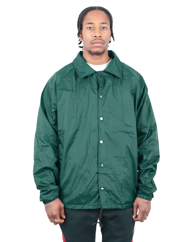 Shaka Wear Drop Ship Coaches Jacket H GREEN