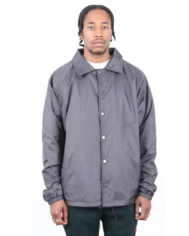 Shaka Wear Drop Ship Coaches Jacket DARK GREY