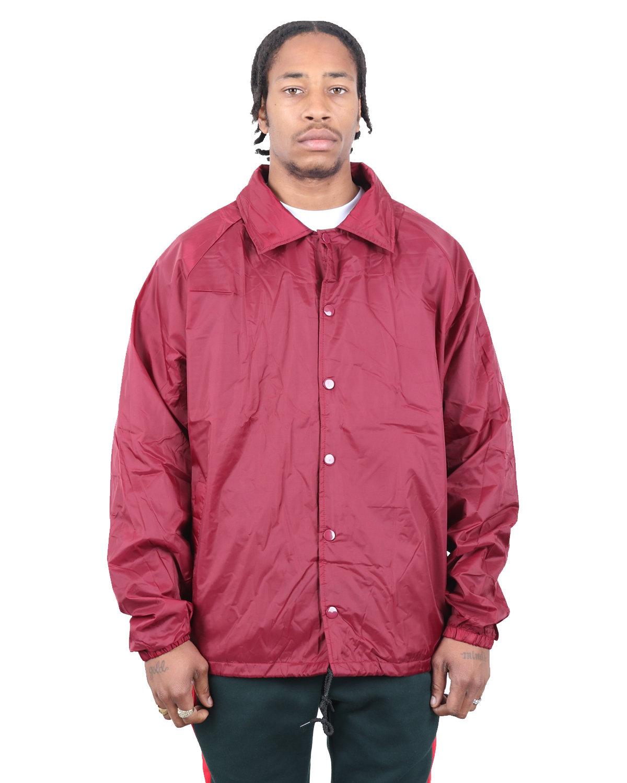 Shaka Wear Drop Ship Coaches Jacket BURGUNDY