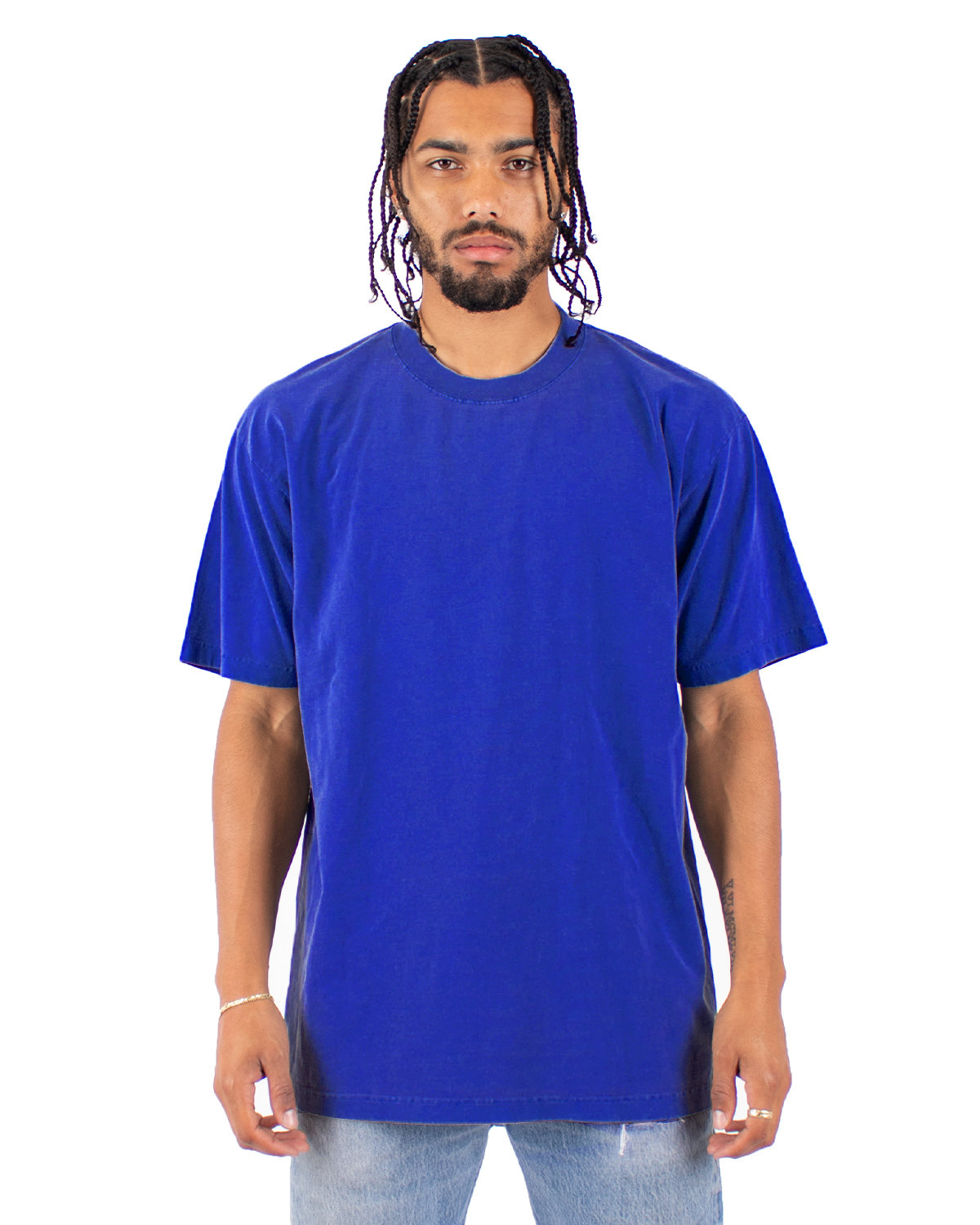 Shaka Wear Drop Ship Garment-Dyed Crewneck T-Shirt ROYAL