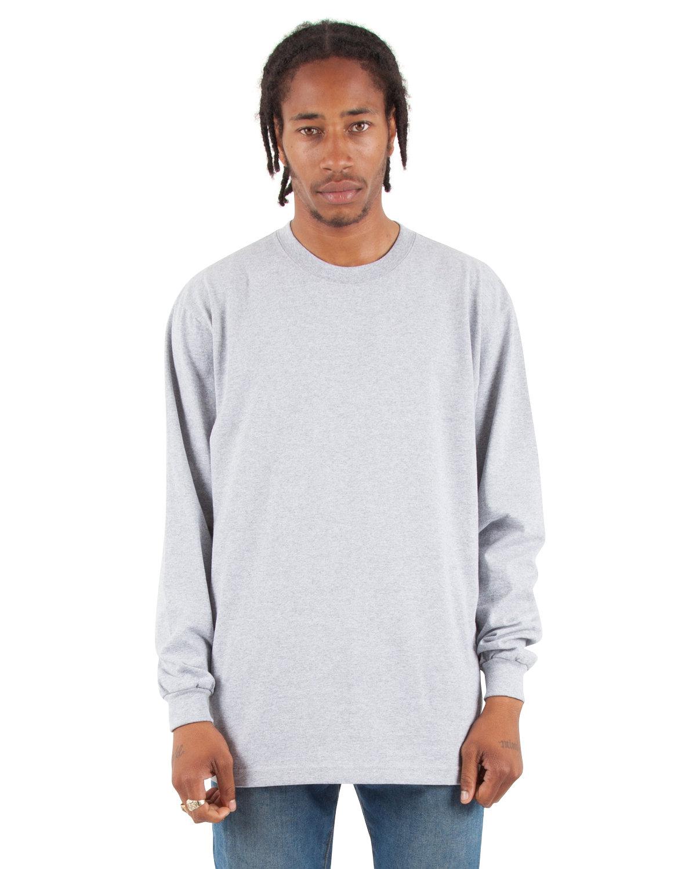 Shaka Wear Drop Ship Adult 7.5 oz., Max Heavyweight Long-Sleeve T-Shirt HEATHER GREY