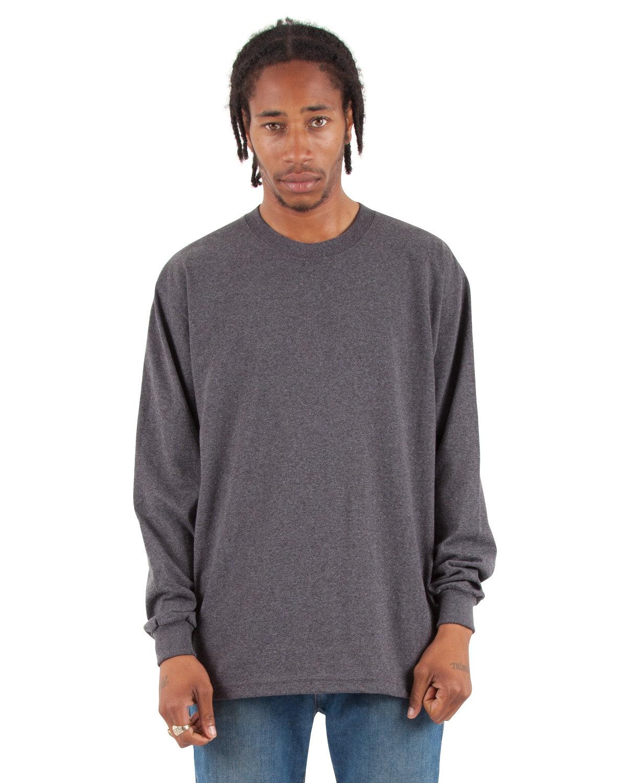 Shaka Wear Drop Ship Adult 7.5 oz., Max Heavyweight Long-Sleeve T-Shirt CHARCOAL GRY HTH