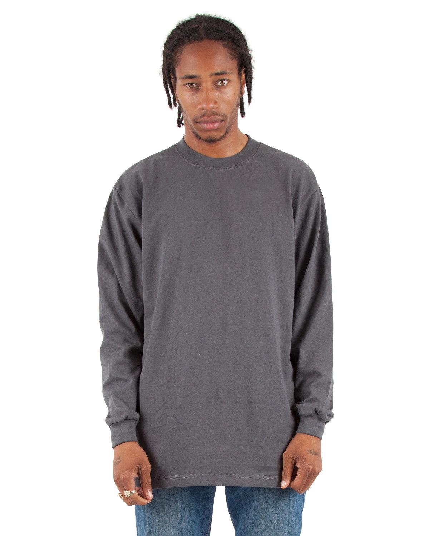 Shaka Wear Drop Ship Adult 7.5 oz., Max Heavyweight Long-Sleeve T-Shirt DARK GREY