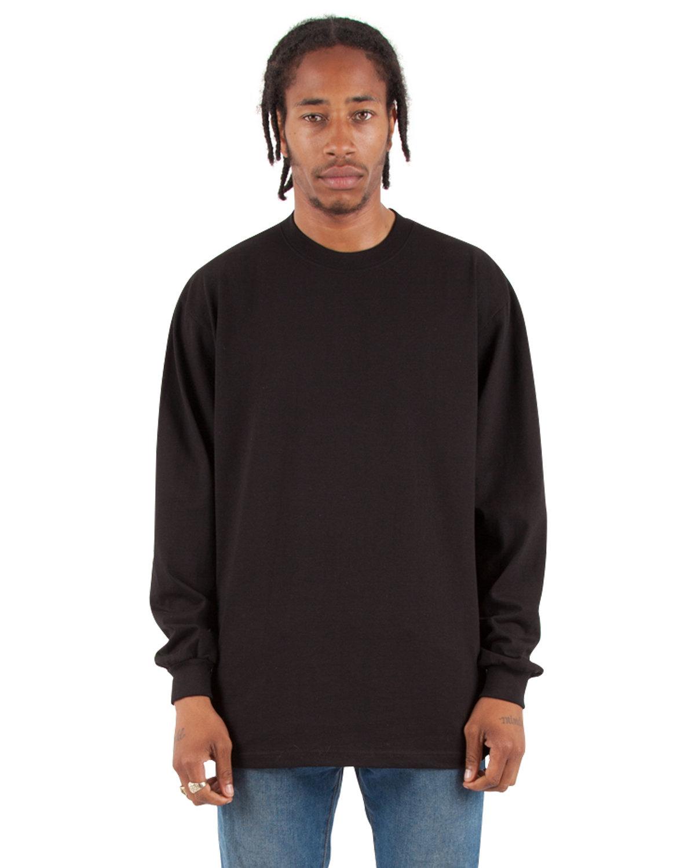 Shaka Wear Drop Ship Adult 7.5 oz., Max Heavyweight Long-Sleeve T-Shirt BLACK