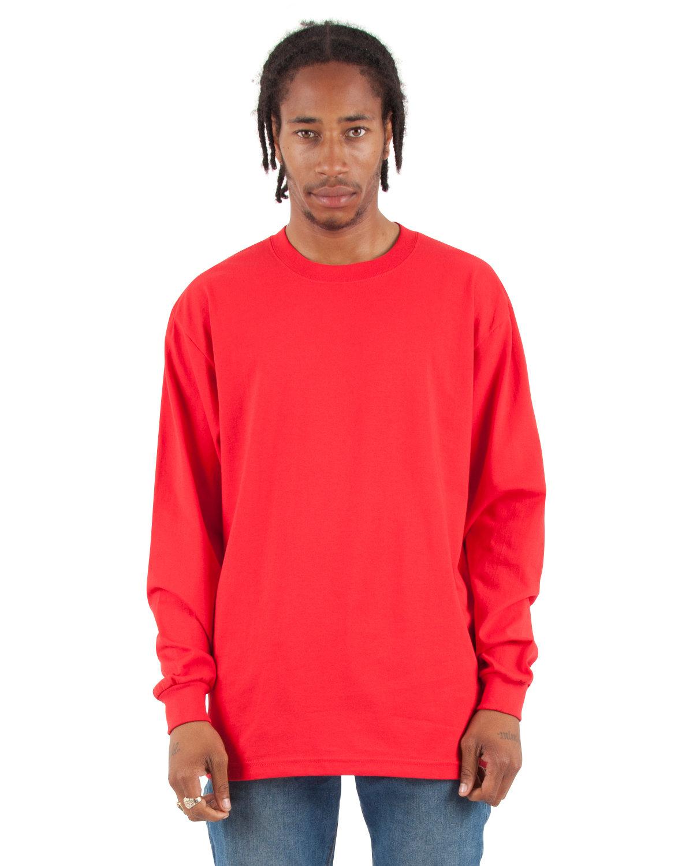 Shaka Wear Drop Ship Adult 7.5 oz., Max Heavyweight Long-Sleeve T-Shirt RED