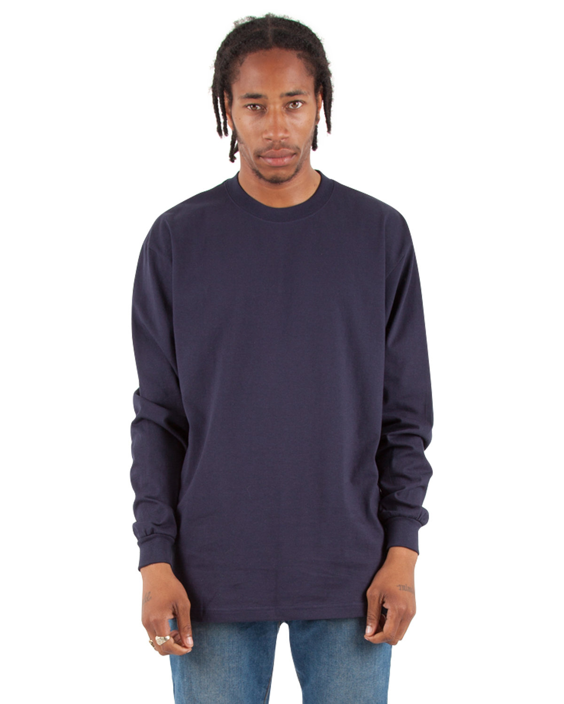 Shaka Wear Drop Ship Adult 7.5 oz., Max Heavyweight Long-Sleeve T-Shirt NAVY