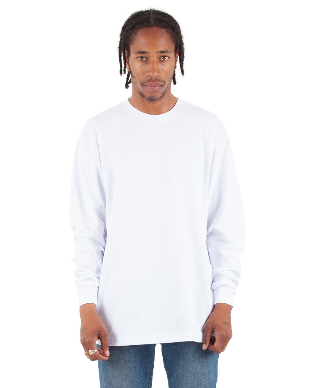 Shaka Wear Drop Ship Tall 7.5 oz., Max Heavyweight Long-Sleeve T-Shirt WHITE