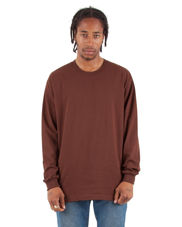 Shaka Wear Drop Ship Tall 7.5 oz., Max Heavyweight Long-Sleeve T-Shirt BROWN
