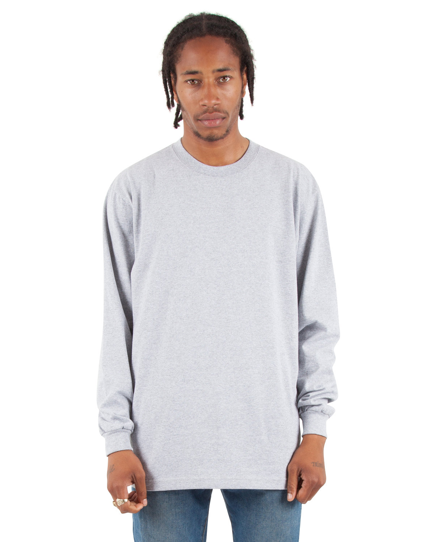 Shaka Wear Drop Ship Tall 7.5 oz., Max Heavyweight Long-Sleeve T-Shirt HEATHER GREY