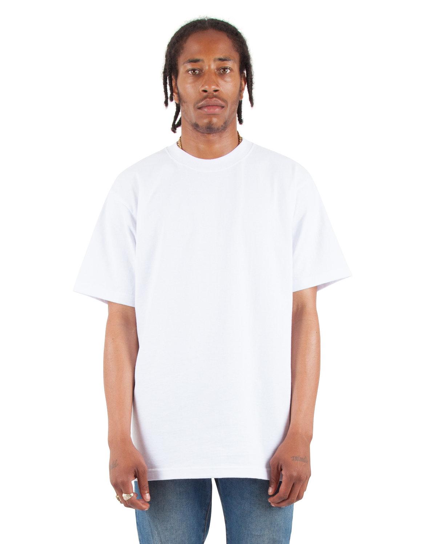 Shaka Wear Drop Ship Adult 7.5 oz., Max Heavyweight T-Shirt WHITE