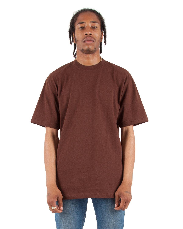 Shaka Wear Drop Ship Adult 7.5 oz., Max Heavyweight T-Shirt BROWN