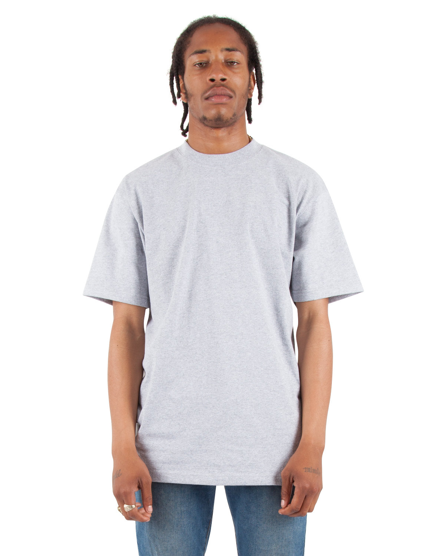 Shaka Wear Drop Ship Adult 7.5 oz., Max Heavyweight T-Shirt HEATHER GREY