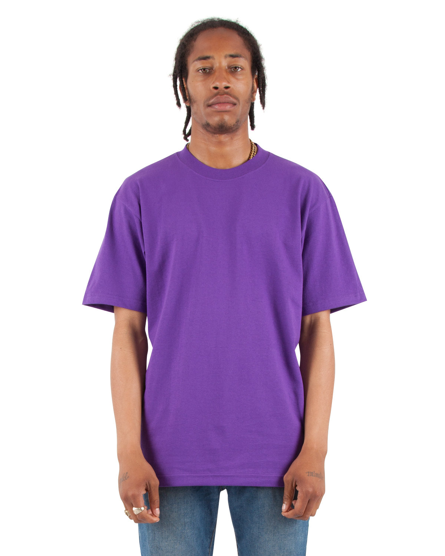 Shaka Wear Drop Ship Adult 7.5 oz., Max Heavyweight T-Shirt PURPLE