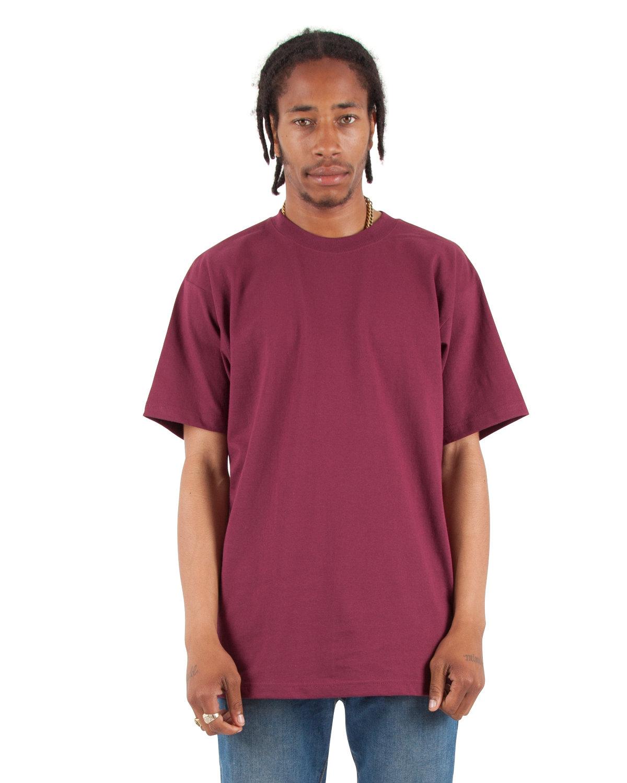 Shaka Wear Drop Ship Adult 7.5 oz., Max Heavyweight T-Shirt BURGUNDY