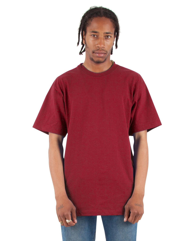 Shaka Wear Drop Ship Adult 7.5 oz., Max Heavyweight T-Shirt CARDINAL