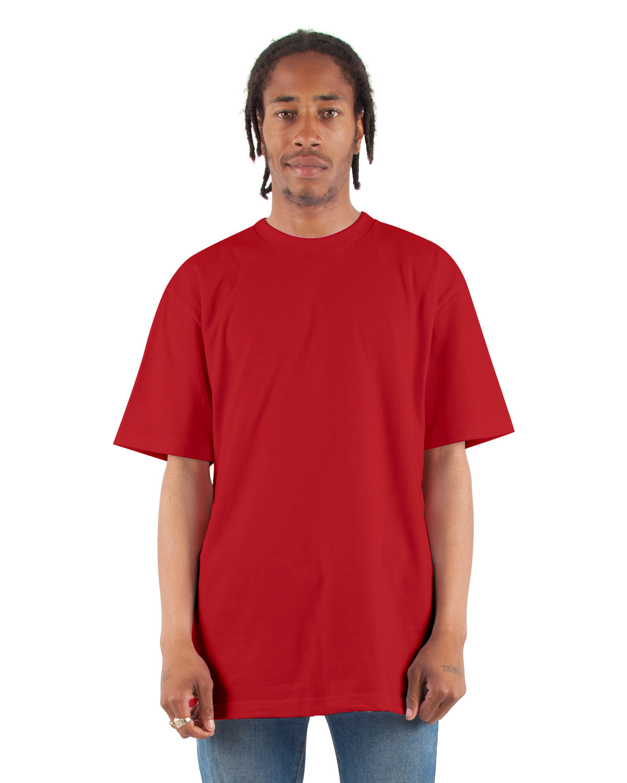 Shaka Wear Drop Ship Adult 6.5 oz., RETRO Heavyweight Short-Sleeve T-Shirt RED