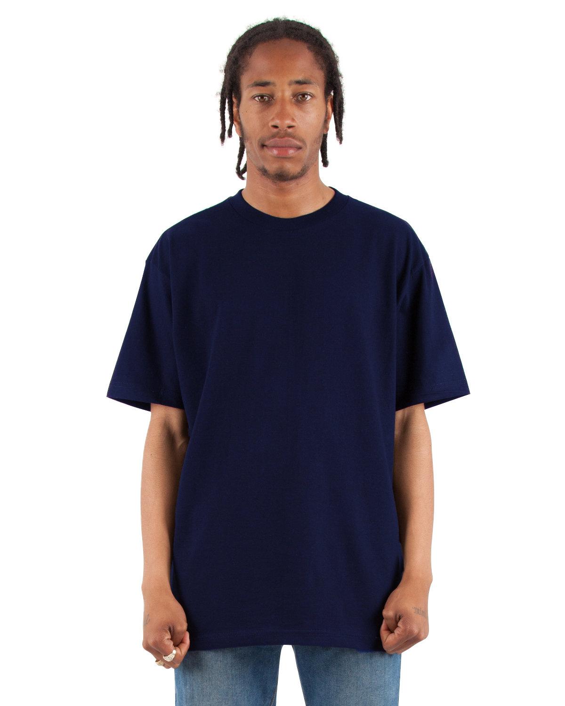Shaka Wear Drop Ship Adult 6.5 oz., RETRO Heavyweight Short-Sleeve T-Shirt NAVY