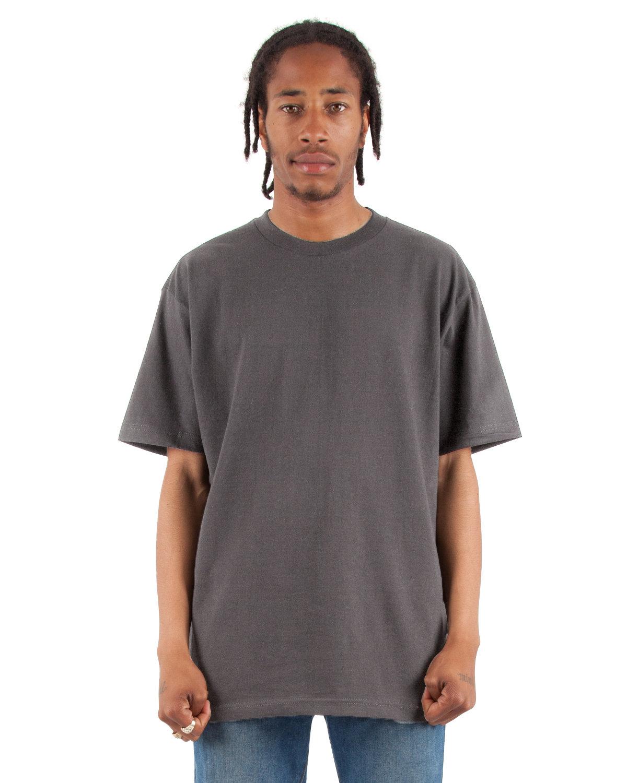 Shaka Wear Drop Ship Adult 6.5 oz., RETRO Heavyweight Short-Sleeve T-Shirt DARK GREY